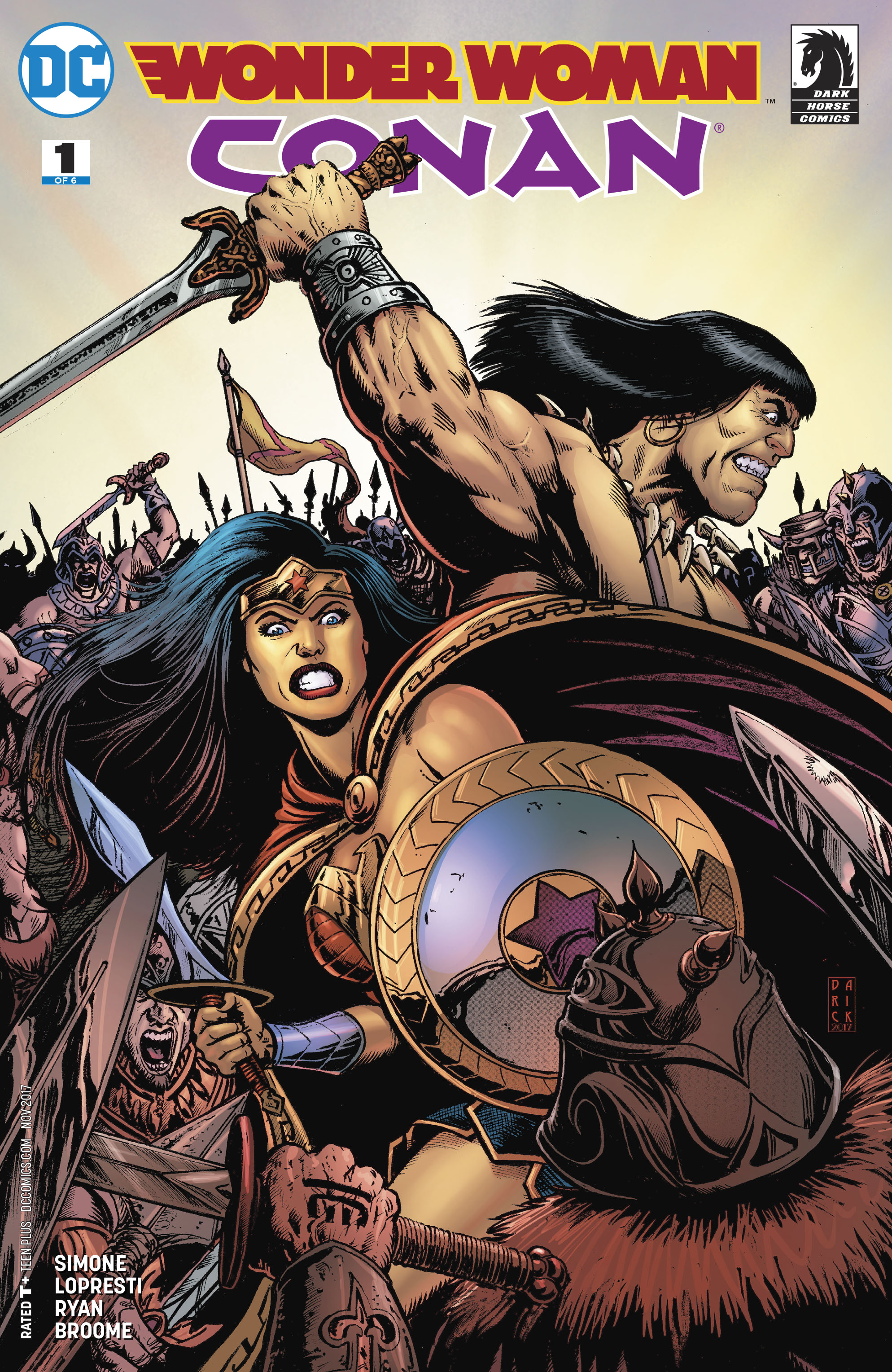 Wonder Woman Conan #1 Cover A Regular Darick Robertson Cover