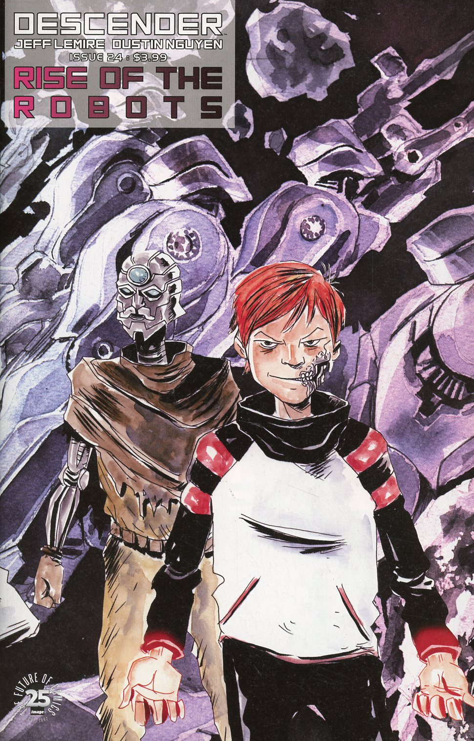 Descender #24 Cover B Variant Jeff Lemire & Dustin Nguyen Interlocking Cover