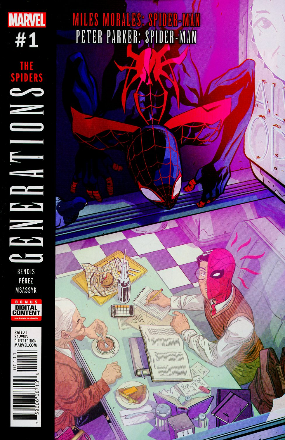 Generations Miles Morales Spider-Man & Peter Parker Spider-Man #1 Cover A 1st Ptg Regular Ramon Perez Cover