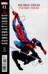 Generations Miles Morales Spider-Man & Peter Parker Spider-Man #1 Cover B Variant Olivier Coipel Cover