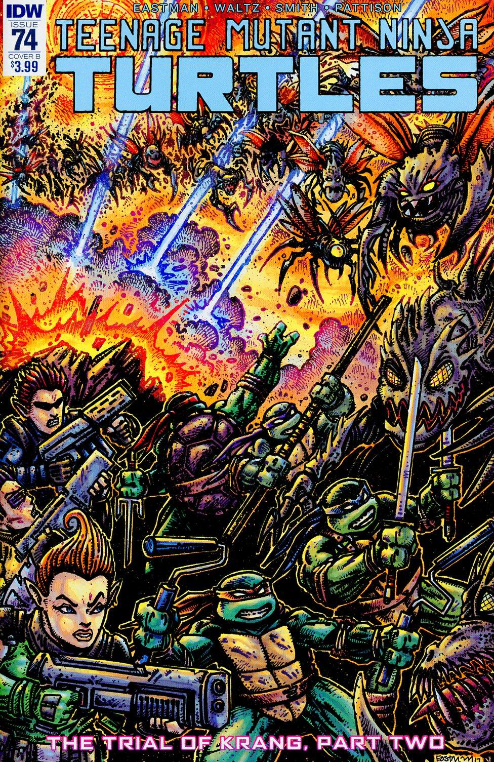 Teenage Mutant Ninja Turtles Vol 5 #74 Cover B Variant Kevin Eastman Cover
