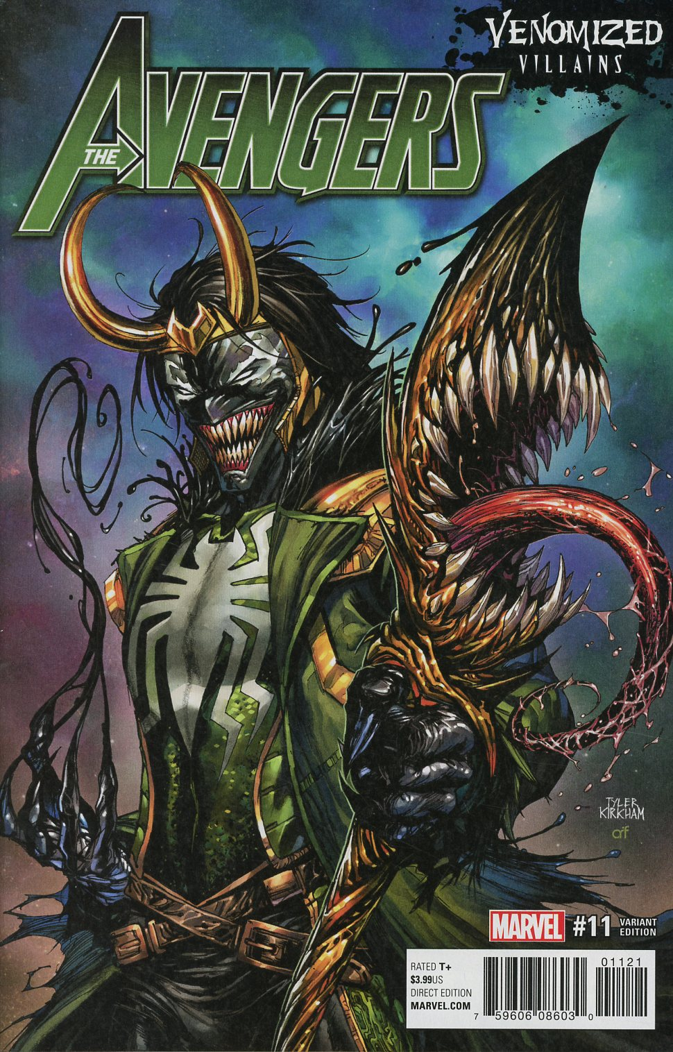 Avengers Vol 6 #11 Cover B Variant Tyler Kirkham Venomized Loki Cover (Secret Empire Epilogue)