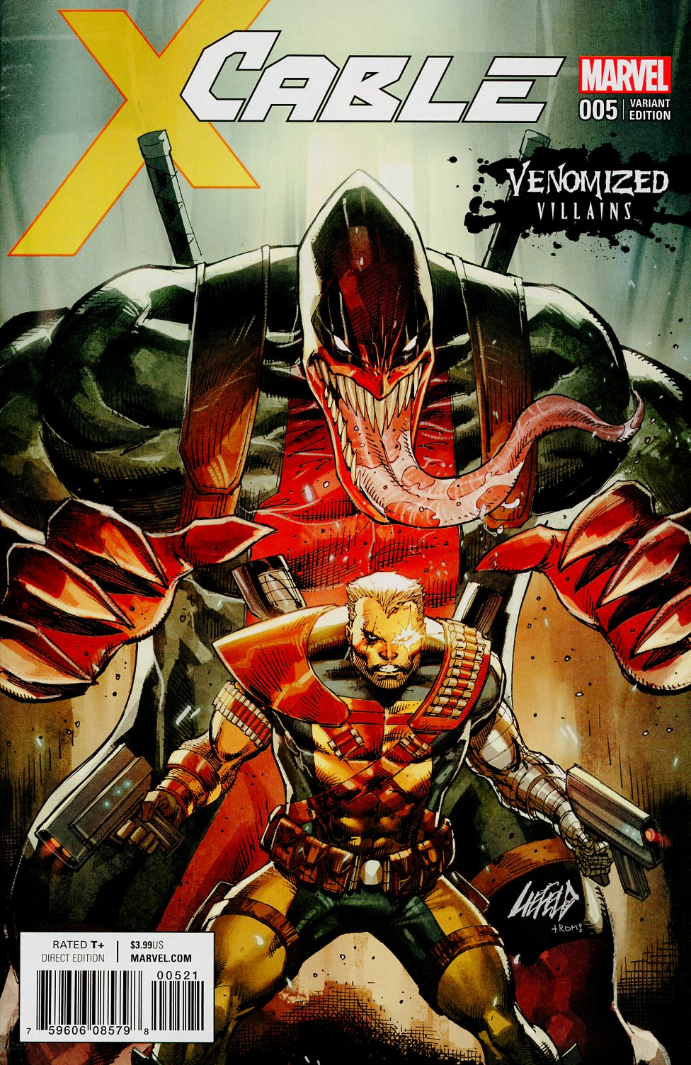 Cable Vol 4 #5 Cover B Variant Rob Liefeld Venomized Deadpool Cover