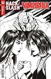 Hack Slash vs Vampirella #2 Cover C Incentive Carli Ihde Black & White Cover