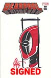 Deadpool Vol 5 #1 Cover M DF Signed & Remarked By Ken Haeser