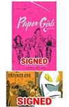 Paper Girls Deluxe Edition Vol 1 HC Signed PLUS Private Eye Deluxe Edition HC Bookplate Signed Special Combo Pack