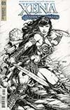 Xena Vol 2 #1 Cover F Incentive David Finch Black & White Cover