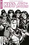 KISS Army Of Darkness #1 Cover F Incentive Ken Haeser Black & White Cover
