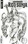 Legenderry Red Sonja Vol 2 #1 Cover C Incentive Joe Benitez Black & White Cover