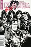 KISS Army Of Darkness #1 Cover J Ken Haeser Ash Head Original Remarked Sketch Edition