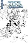 Xena Vol 2 #9 Cover C Incentive Vicente Cifuentes B Black & White Cover