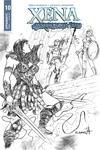 Xena Vol 2 #10 Cover E Incentive Sergio Davila Black & White Cover