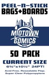 Current Size Comic Book Peel-N-Stick Bag-N-Board 50-Pack