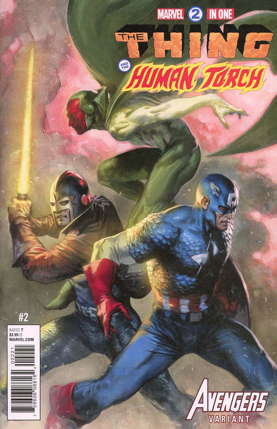 Marvel Two-In-One Vol 3 #2 Cover B Variant Gabriele Dell Otto Avengers Cover (Marvel Legacy Tie-In)