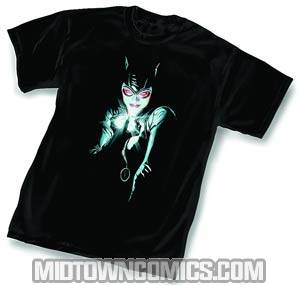 Catwoman Faces Of Evil Black by Alex Ross T-Shirt Large