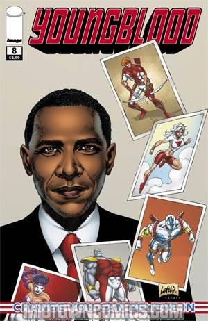 Youngblood Vol 4 #8 1st Ptg Barack Obama Cover