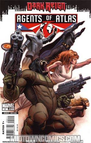 Agents Of Atlas Vol 2 #2 Cover A 1st Ptg Regular Greg Land Cover (Dark Reign Tie-In)