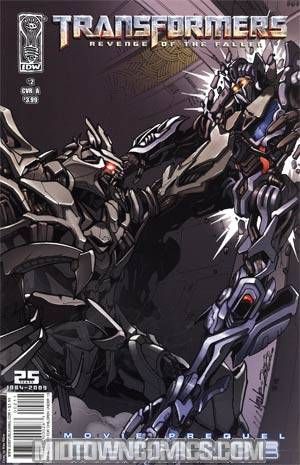 Transformers Revenge Of The Fallen Movie Prequel Defiance #2 Alex Milne Cover