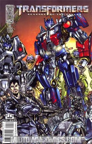 Transformers Revenge Of The Fallen Movie Prequel Alliance #4 Alex Milne Cover
