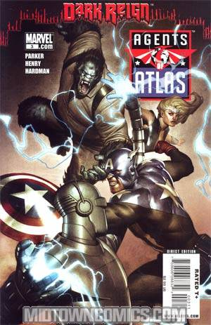 Agents Of Atlas Vol 2 #3 Cover A Regular Adi Granov Cover(Dark Reign Tie-In)