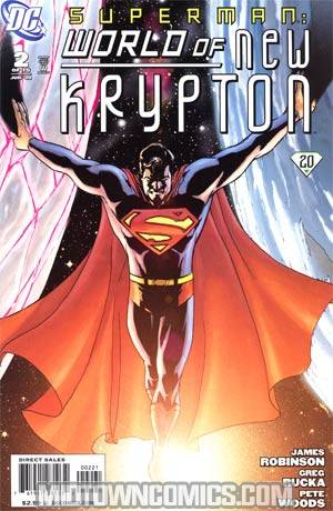 Superman World Of New Krypton #2 Incentive Pete Woods Variant Cover