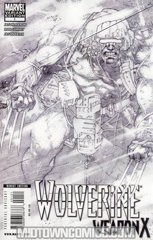 Wolverine Weapon X #1 Cover E Incentive Adam Kubert Sketch Cover