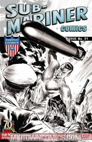 Sub-Mariner Comics 70th Anniversary Special #1 Cover C Incentive Mitch Breitweiser Sketch Variant Cover