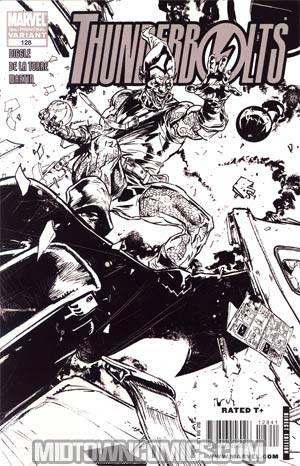 Thunderbolts #128 3rd Ptg Roberto De La Torre Sketch Variant Cover (Dark Reign Tie-In)