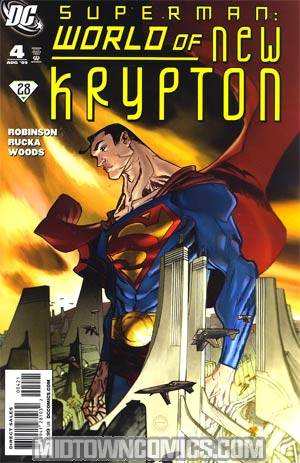 Superman World Of New Krypton #4 Incentive Eric Canete Variant Cover