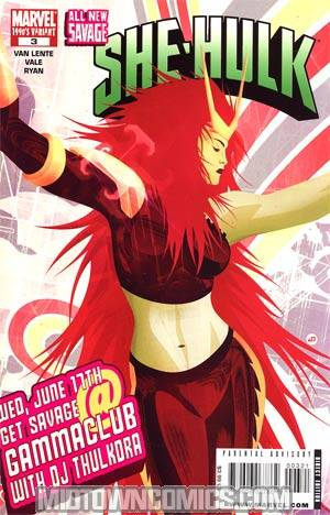 All-New Savage She-Hulk #3 Cover B Incentive 90s Decade Variant Cover (Dark Reign Tie-In)