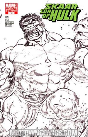 Skaar Son Of Hulk #12 Cover D Incentive Ed McGuinness Black And White Wraparound Cover