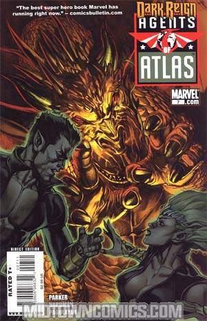 Agents Of Atlas Vol 2 #7 Cover A Regular Leinil Francis Yu Cover (Dark Reign Tie-In)
