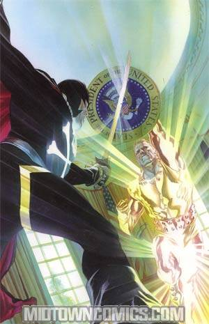 Project Superpowers Chapter 2 #1 Cover E Incentive Alex Ross Black Terror vs President Power Virgin Cover