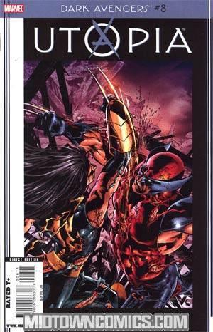 Dark Avengers #8 Cover A Regular Mike Deodato Jr Cover (Utopia Part 5)