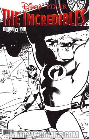 Disney Pixars Incredibles #0 Cover C Incentive Variant Cover