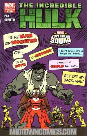 Incredible Hulk Vol 3 #602 Incentive Super Hero Squad Variant Cover