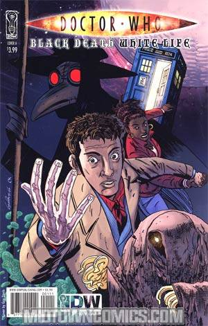 Doctor Who Black Death White Life Cover A Guy Davis Cover