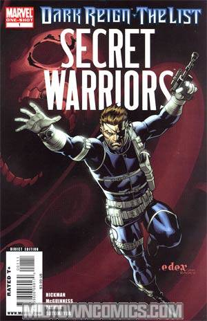 Dark Reign The List Part 4 Secret Warriors Cover A 1st Ptg Regular Ed McGuinness Cover