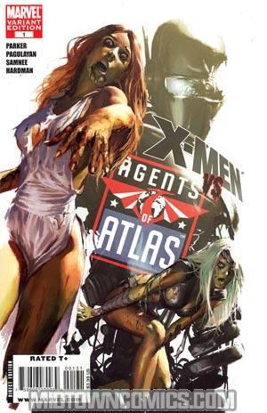 X-Men vs Agents Of Atlas #1 Incentive Gerald Parel Zombie Variant Cover