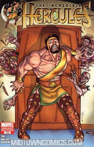 Incredible Hercules #136 Incentive Salvador Espin Zombie Variant Cover