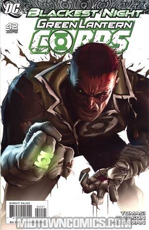 Green Lantern Corps Vol 2 #42 Cover B Incentive Greg Horn Variant Cover (Blackest Night Tie-In)