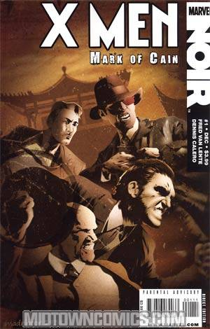 X-Men Noir Mark Of Cain #1 Regular Dennis Calero Cover