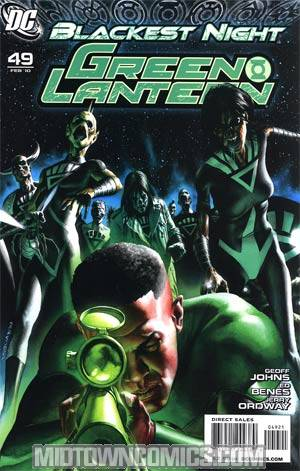 Green Lantern Vol 4 #49 Cover B Incentive Rodolfo Migliari Variant Cover (Blackest Night Tie-In)