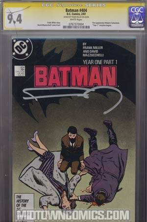 Batman #404 Cover F Signed by Frank Miller CGC 9.4