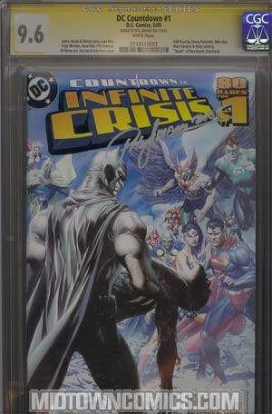 DC Countdown To Infinite Crisis #1 Cover G Signed by Phil Jimenez CGC 9.6