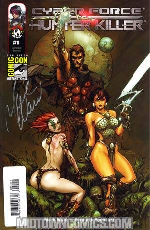 Cyberforce Hunter-Killer #1 Cover F Kenneth Rocafort SDCC Exclusive Variant Cover Signed By Mark Waid