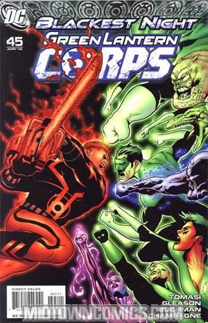 Green Lantern Corps Vol 2 #45 Cover A Regular Patrick Gleason Cover (Blackest Night Tie-In)