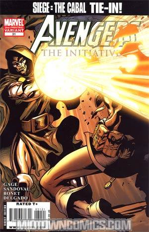 Avengers The Initiative #31 2nd Ptg Variant Cover (Siege The Cabal Tie-In)