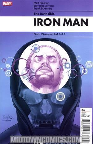 Invincible Iron Man #24 Cover A Salvador Larroca Cover