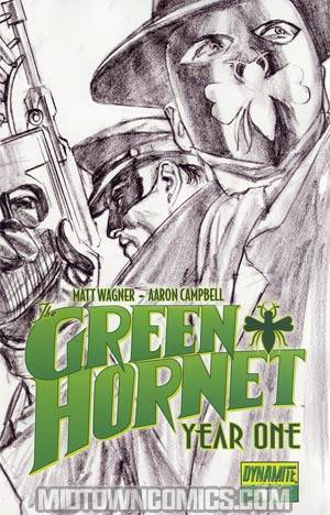 Green Hornet Year One #1 Cover G Incentive Alex Ross Black & White & Green Cover